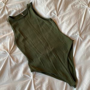 Free People Army Green Bodysuit